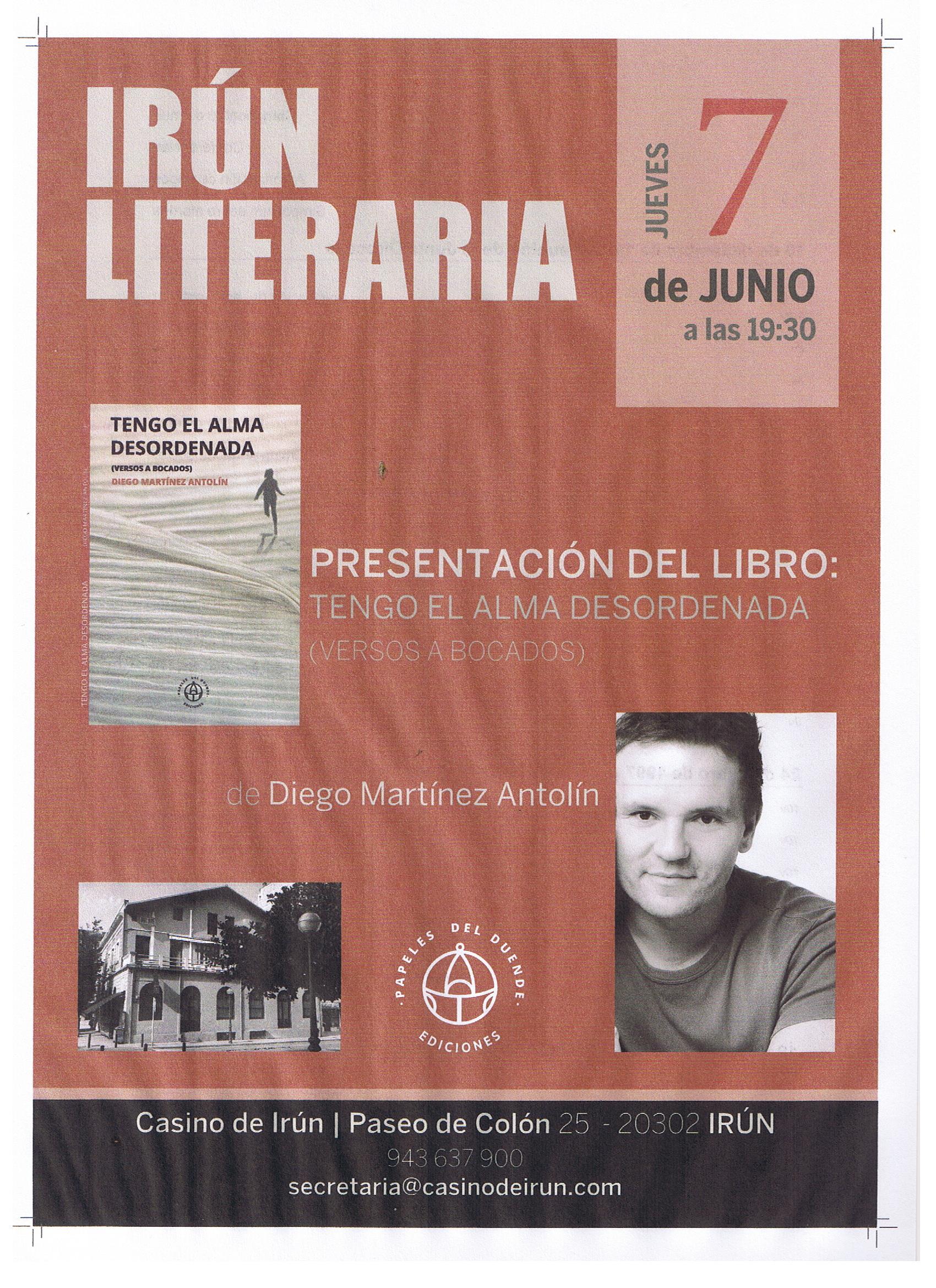 PRESENTACIÓN LIBRO DE DIEGO MARTÍNEZ